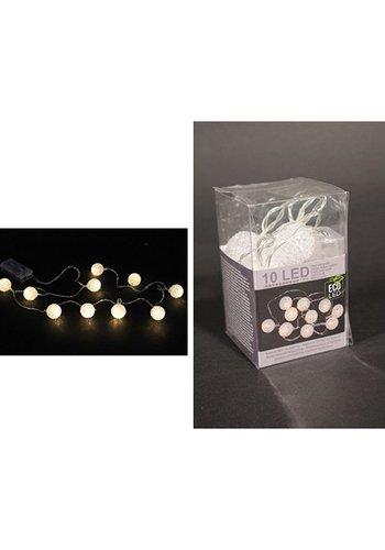 Eco Led Boule de lumières LED, 10 LED, Vinyle blanc chaud,