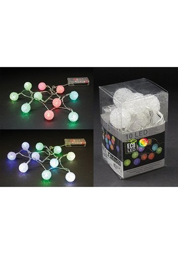 Eco Led Lichterkette LED Ball, Vinyl, RGB Farbwechsel,