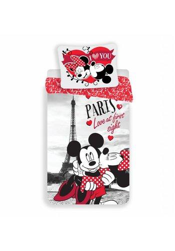 Disney Dekbedovertrek Licentie Mickey & Minnie Mouse Paris 140 x 200