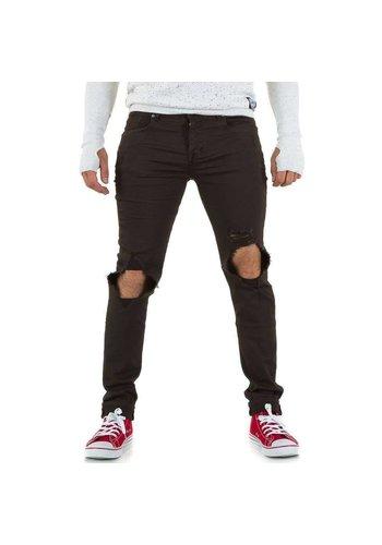 SIXTH JUNE Heren jeans van Sixth June - kaki