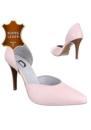 Neckermann Damen Leder High Heels - pink
