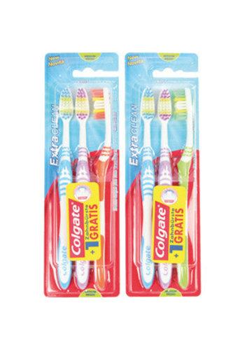 Colgate Zahnbürste COLGATE 3er Extra Clean