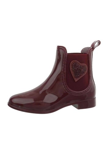 Neckermann Bottines femme en caoutchouc - bordeaux