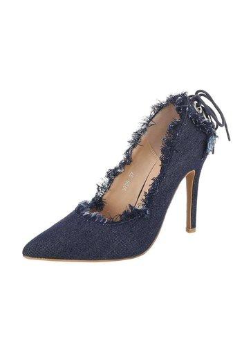 Neckermann Dames hoge hakken pumps - blauw