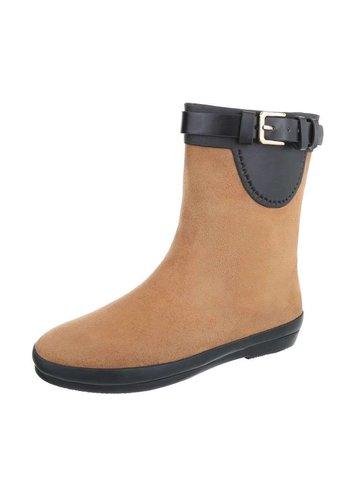 Neckermann Dames rubberen laarzen - Camel