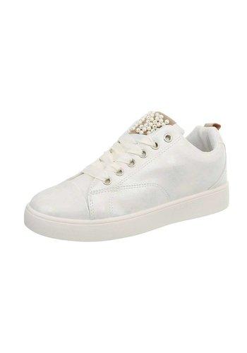 Neckermann Dames sneakers laag -Wit  zilver