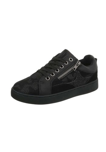 Neckermann Dames sneakers laag - zwart
