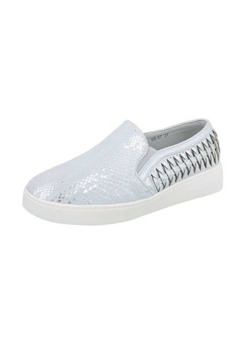 Neckermann Dames sneakers laag - zilver