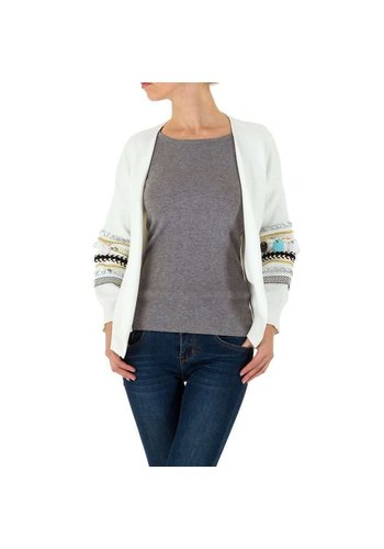 SHK PARIS Damen Strickjacke von SHK Paris Gr. One Size - white