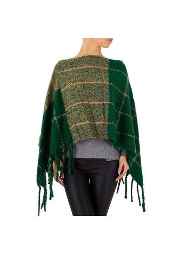 HOLALA Dames poncho van Holala - 1 maat - groen
