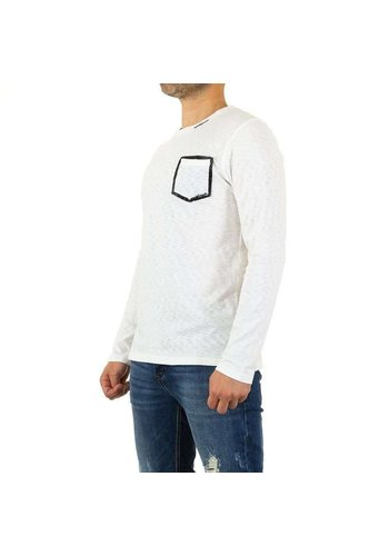 Neckermann Heren Sweater van Y.Two Jeans - wit