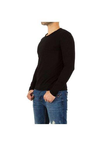 Neckermann Heren Sweater trui van Y. Two Jeans - zwart