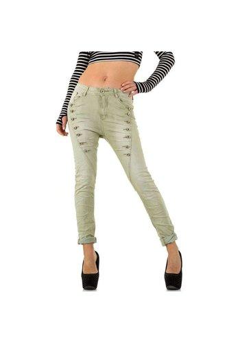 Mozzaar Dames Jeans van Mozzaar  - lichtgrijs