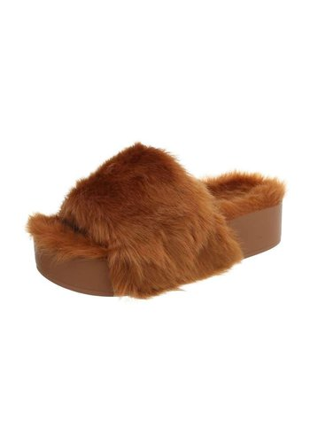 Neckermann Dames pantoffels - camel