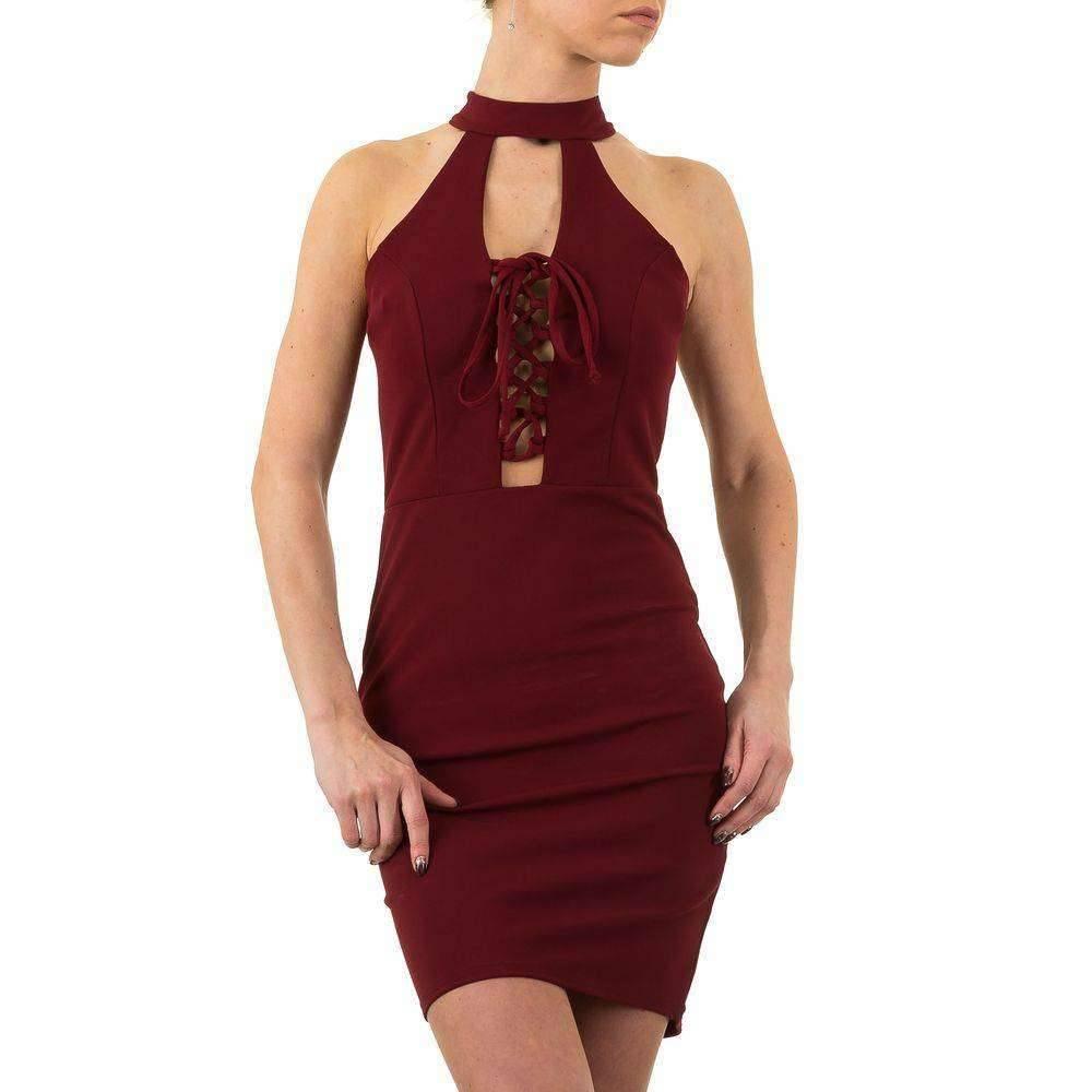b754c8434cc27d Dames jurk - wijnrood - Neckermann.com