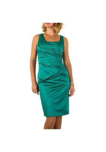 Neckermann Dames jurk - petrol - licht glanzend