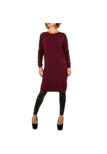 SHK PARIS Dames jurk van Shk Paris - 1 maat - donkerrood