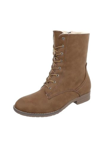 Neckermann Dames Boots met vetersluiting  - bruin