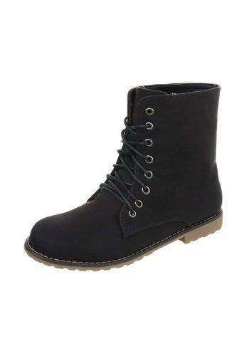 Neckermann Dames Boots met vetersluiting  - zwart