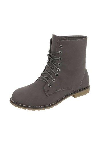 Neckermann Dames Boots met vetersluiting  - grijs