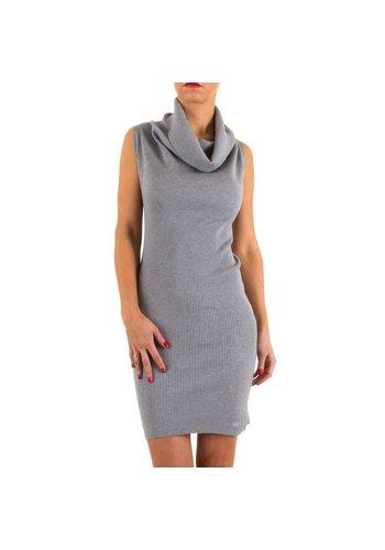MC LORENE Dames jurk van Mc Lorene - 1 maat - grijs