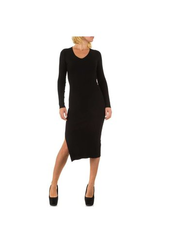 MC LORENE Dames 3/4 jurk  van Mc Lorene - 1maat - zwart
