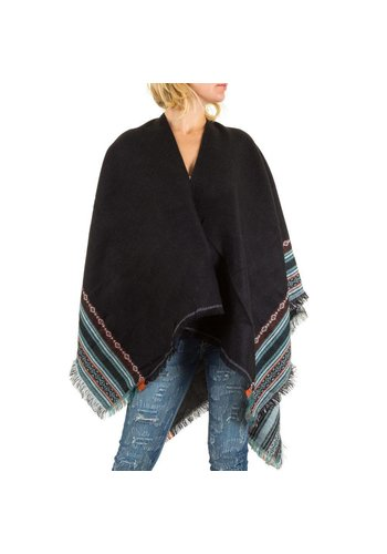Best Fashion Dames Poncho van Best Fashion - 1 maat - zwart