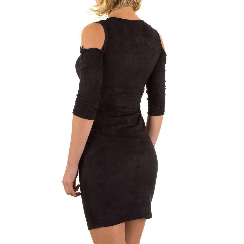 e53fd55fb5e906 Dames jurk - kort - zwart · Afbeelding vergroten