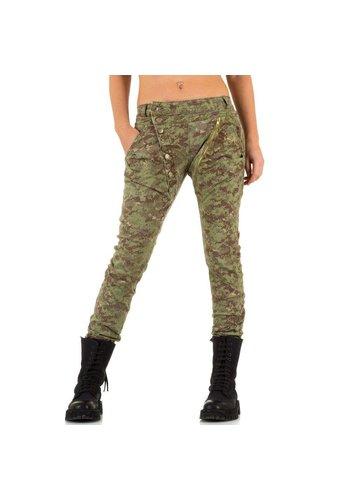 Mozzaar Damen Jeans von Mozzaar  - armygreen