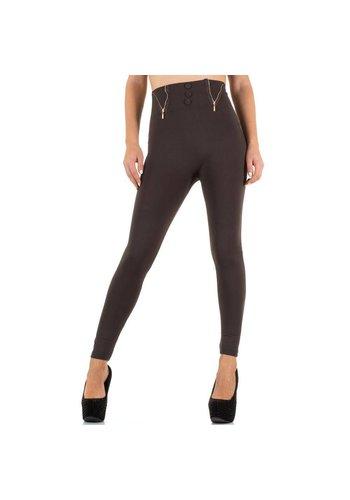 Best Fashion Dames Legging van Best Fashion - 1 maat - bruin