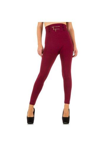 Best Fashion Dames Legging van Best Fashion - 1 maat- D-rood