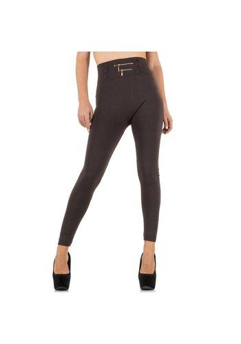 Best Fashion Dames Legging van Best Fashion - 1 maat- taupe
