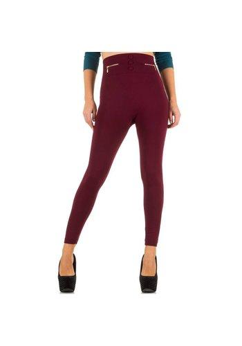 Best Fashion Dames Legging van Best Fashion - 1 maat - wijnrood