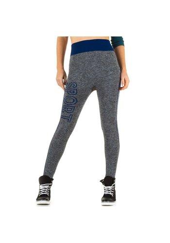 Best Fashion Dames Legging van Best Fashion - 1 maat - grijs-blauw