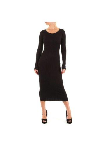 MOEWY Dames jurk van Moewy - 1 maat - zwart
