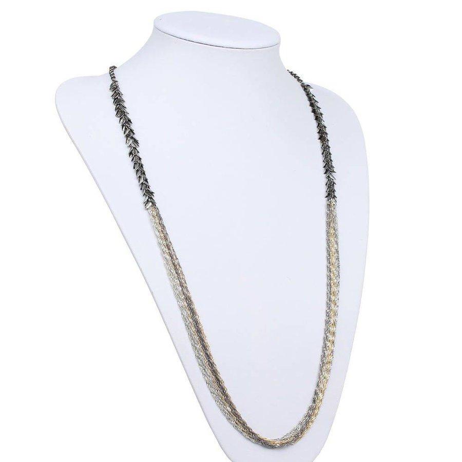 Damen Halskette - goldsilver