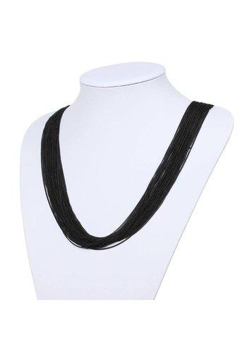 Neckermann Dames halsketting - zwart