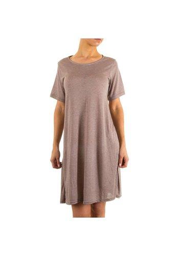 JCL Damen Kleid von Jcl - taupe