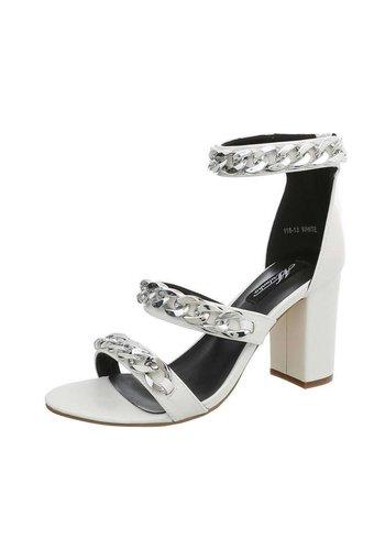 Neckermann Dames Sandalette - hoge blokhak - wit
