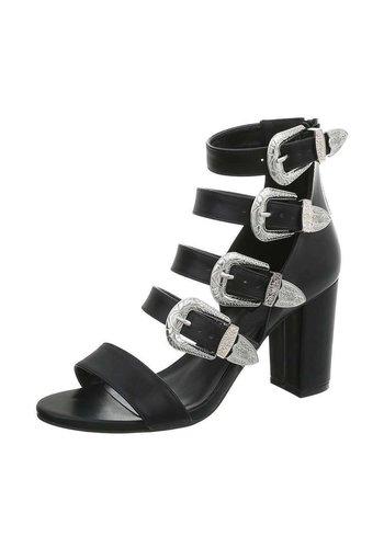 Neckermann Dames Sandalette - hoge blokhak - zwart