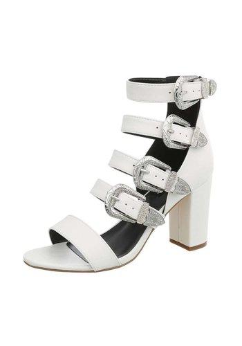 Neckermann Dames Sandalette - hoge blokhak wit