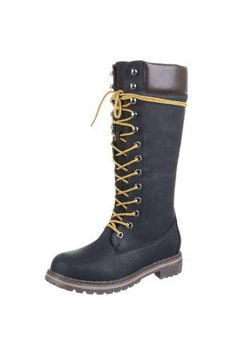 Neckermann Dames Laarzen met kant - zwart