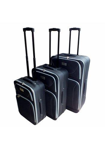 Slazenger Trolleyset - 3 pièces - noir