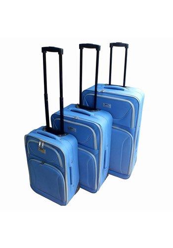 Slazenger Trolleyset - 3 stuks - blauw