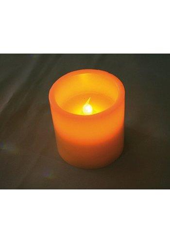 Neckermann Echte wax LED kaars 7,5x7,5cm, warm wit licht,
