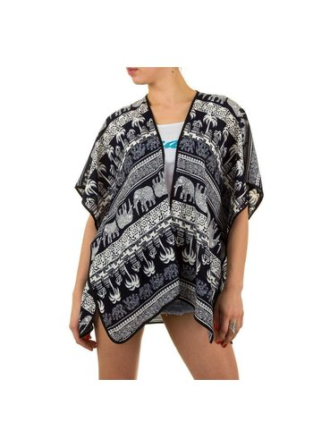 Best Fashion Dames poncho van Best Fashion - 1 maat - Donkerblauw