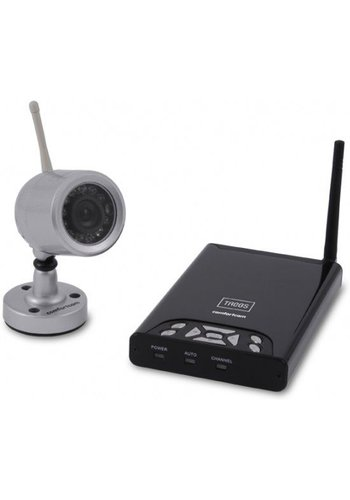Trebs Beveiligingscamera draadloze kleurencamera en ontvanger met opnamefunctie