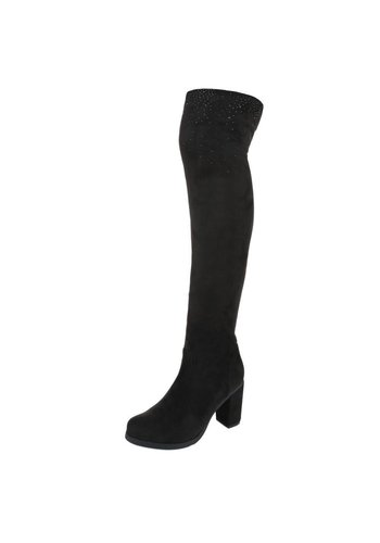 Neckermann Dames-over-de-knie laarzen - zwart