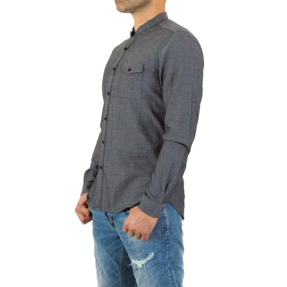Heren Overhemd Zwart.Neckermann Heren Overhemd Van Y Two Jeans Zwart Neckermann Com