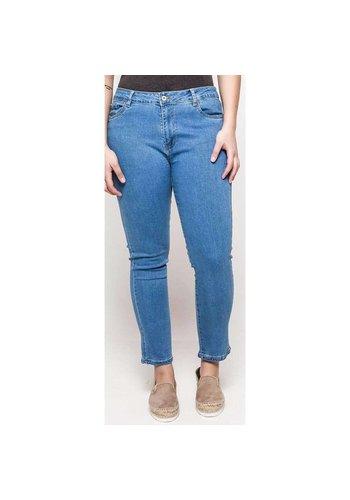 Neckermann Dames Jeans - Grote maat - blauw